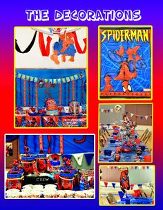 Best Spiderman Party ever!!!! So many ideas for you on what you can do and how to decorate at your spiderman party. The kids at the party thought it was their birthday it was so fun and they left with so much stuff.Christiansen Family- Our family blog: Crew's 5th Spiderman Birthday Party