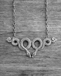 Silver Voodoo Snake Necklace by Ink & Roses 13
