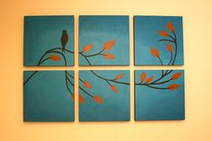 Six Piece Wall Painting