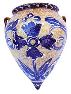 Wall Planter - Spanish Orza de Pico (Spanish Azul) - Hand Painted in Spain