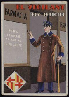 El Vigilant els felicita. Any 1936. Fons Joan Amades. #Nadal #Christmas #greeting #card