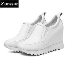 Zorssar  2018 Fashion Women High Heels ladies wedge shoes Platform Pumps  Woman height increase shoes casual slip on Women shoes 49fb6e1ff0c6