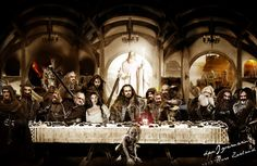 """☥☥☥ Title: Hobbit Last Supper- An Unexpected Journey / Middle of Middle Earth Photo,paint esoteric theme by: danIzvernariu Theosophy,alchemy and masonery theme This picture belong to : FIVEBLUEAPPLES Memphis and are under copy right protect.All rights reserved by Fiveblueapples Publications. Prohibit to reproduce. © 2013 public collection : """"LOVE"""" by (m.:b.:) Dan Izvernariu  fiveblueapples publications © 1996 l.a. ca, us TAG: alchemy,masonry,theosophy,philosophy,religion,spiritual,psih Digital Art Photography, Aleister Crowley, Earth Photos, An Unexpected Journey, Into The Fire, Last Supper, New Age, Middle Earth, Lotr"""