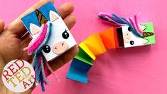 Secret Unicorn Notebook DIY - Matchbox Unicorn DIY - Cutest Unicorn DIY ...
