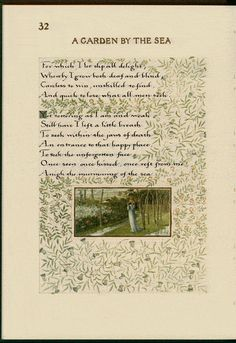 From Book of Verse by William Morris, 1870