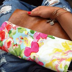 Flower Crossbody by VintageAutumn on Etsy fold over clutch