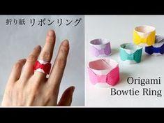折り紙 リボンリング Origami Bowtie Ring – Origami World Origami And Quilling, Kids Origami, Origami Folding, Paper Crafts Origami, Paper Folding, Origami Easy, Diy Paper, Pinterest Origami, Crafts For Teens