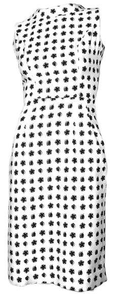 1950's Cotton Wiggle Dress - www.ballyhoovintage.com