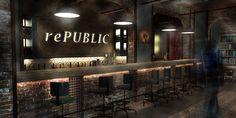 pub interior design rePUBLICA http://yellowoffice.ro/projects/republic #industrial design #brick #retro