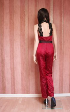 Silk and Lace Jumpsuit Lace Jumpsuit, Spring Summer, Couture, Silk, Collection, Dresses, Fashion, Vestidos, Moda