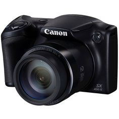 Canon PowerShot SX400 IS Digital Camera Black (3.130 ARS) ❤ liked on Polyvore featuring fillers, accessories, camera, electronics and other