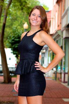 Chevron Peplum Dress #May23Online $38.00 #chevron #peplum