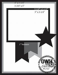 Card Sketches with measurements | Operation Write Home