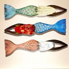Mermaid sculpture collection by artist Chase Allen #ironfishart #ironfish #sc #sculptures #daufuskie #daufuskieisland