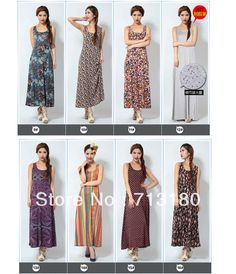 2013 New Style Summer Bohemian Dress Casual Skirts Women 18 Colors Long Dresses 2013 Free Shipping Sale
