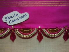 Saree Kuchu New Designs, Saree Tassels Designs, Blouse Designs, Silk Thread, Thread Crochet, Crochet Lace, Banarsi Saree, Designer Blouse Patterns, Saree Dress