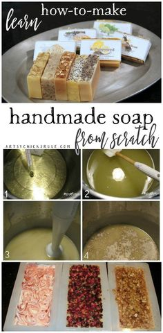 Learn How To Make Handmade Natural Soap... From Scratch!!! artsychicksrule.com #soapmaking #coldprocesssoap #diysoap