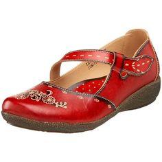 Red Spring step Juniper Mary Janes