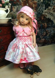 """Effner Little Darling Doll """" Mary not So Contrary"""" Dress Sweater Hat Ensemble…"""