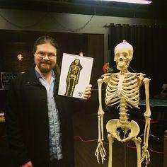 """Michael Owen's awesome skeleton drawing!"""
