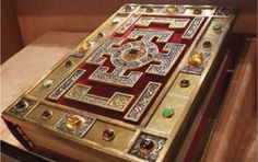 The Lindisfarne Gospels, Anglo Saxon, ca. 700 AD
