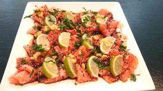 Ett LCHF-recept på en riktigt god förrätt. Gillar du sushi, då kommer du älska den här rätten. Sashimi är perfekt för dig som äter LCHF.