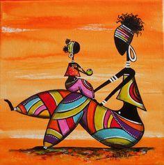 Black Women Art, Black Art, Aboriginal Art, Tribal Art, Indian Art, Rasta Art, African Paintings, African Artwork, African Quilts