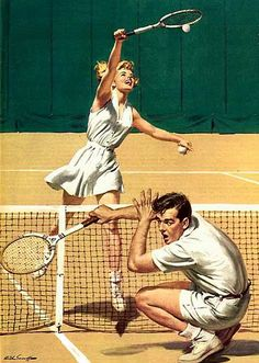 The American Weekly - August Feature story on American tennis player  Maureen Connolly. Artwork by Arthur Samoff. 554a1a52a7