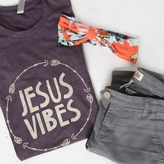 This is a super-soft unisex t-shirt with our Jesus Vibes design. FIT: Unisex - Runs true to size. *Tri-Blend Deep Purple with vintage cream design. Jesus Shirts, Christian Clothing, Christian Shirts, Deep Purple, Jesus Clothes, Fall Outfits, Cute Outfits, Fashion And Beauty Tips, Vinyl Shirts