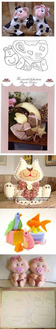 Grande coleção de padrões para brinquedos macios - Ofícios | игрушки | Постила
