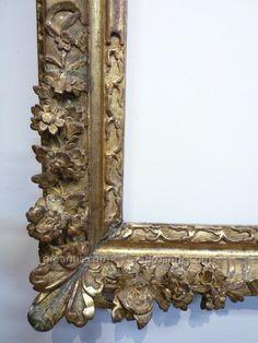 Cadre d'époque Louis XIV - cadres anciens Decor, Deco, Framed Art, Picture Frames, Gilded, Wood Tools, Louis Xiv, Vintage Frames, Frame