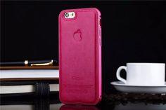 Hochwertige Leder Metall Rand Handyhülle mit Apple Logo für iphone 5, iphone…