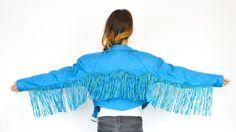 Turquoise fringed leather jacket...umm YES!