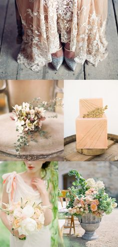 Whiter than White Weddings | Peach and Blush Wedding Moodboard
