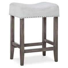 "Threshold™ Saddle 24"" Counter Stool With Nailheads"