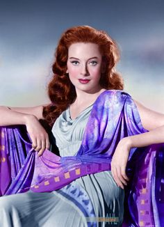 Deborah Kerr - in a costume for Quo Vadis Hollywood Actor, Golden Age Of Hollywood, Hollywood Stars, Hollywood Actresses, Classic Hollywood, Actors & Actresses, The Sweetest Thing Movie, Jean Simmons, Deborah Kerr