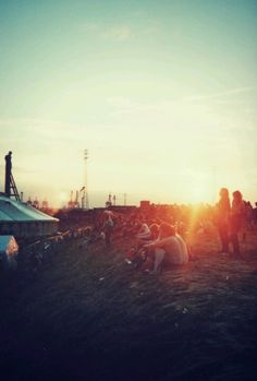 Looks like some sort of music festival... maybe Coachella? either way, looks like a wonderful place to be