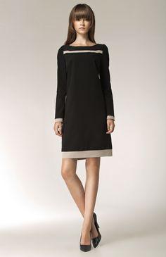 Robe noire habillРіВ©e manches longues