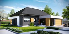 Find home projects from professionals for ideas & inspiration. Projekt domu HomeKONCEPT 27 by HomeKONCEPT Contemporary House Plans, Modern House Plans, Small House Plans, My Home Design, Home Design Plans, Modern House Design, Beautiful House Plans, Beautiful Homes, Steel Framing