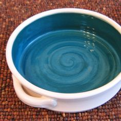 Brie Baker in Peacock Blue - Pottery Casserole Dish