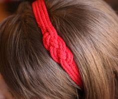 How to make a Nautical Headband  Materials: -4 yds of rope or ribbon cut into 4 equal strands -1/2 yd 1 inch twill -hair band -sewing needle...