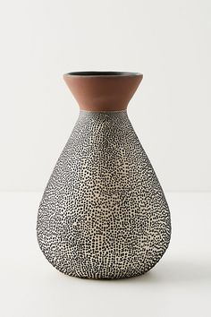 Slide View: 3: Spotted Ceramic Vase