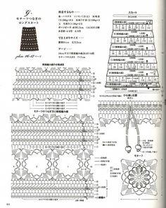 falda de crochet para invierno con diagramas