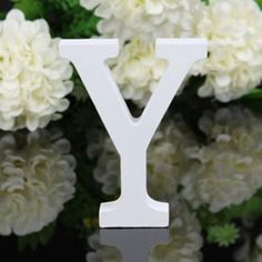 Wedding Decorations PVC Letters White Wooden Alphabet Decorative Crafts
