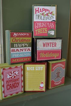 Christmas Blocks -fun & festive... More like my colors :)