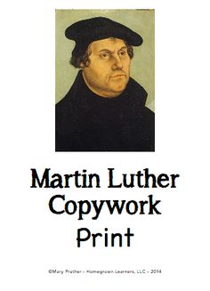 An analysis of the story martin luther the great reformer