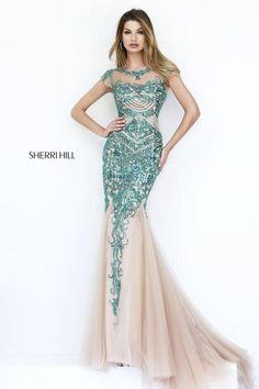 Sherri Hill stunning beaded gown perfect for prom, pageant, or homecoming