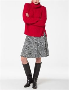 Salvador Polo Knit- From Andrea Moore Salvador, Knitwear, Polo, Boutique, Knitting, Winter, Skirts, Sweaters, Fashion Design
