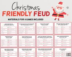Christmas Style, Christmas Family Feud, Family Christmas, Christmas Ideas, Christmas Crafts, Family Feud Christmas Questions, Holiday Ideas, Christmas Decorations, Office Decorations