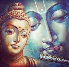 Lord Buddha and Lord Krishna.